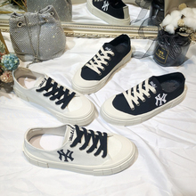 Net Red Korean version of low-top canvas shoes with flat sole and NY letters for children's shoes