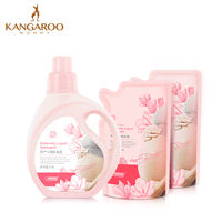 Kangaroo mother pregnant women laundry detergent 1.1L*1 bottle +500ml*2 refill pack clothing cleaner