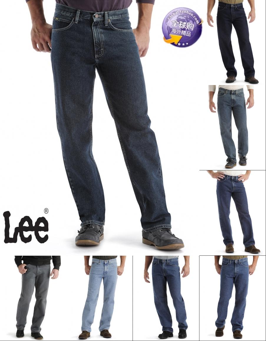 美国正品 Lee/李牌 男士中腰黑色宽松锥形裤筒休闲牛仔裤2055508,新款lee牛仔裤