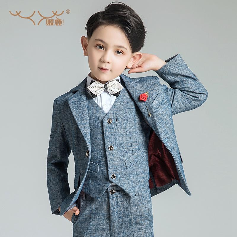 儿童西装套装男童花童礼服男演出服男孩小西服帅气英伦宝宝外套春