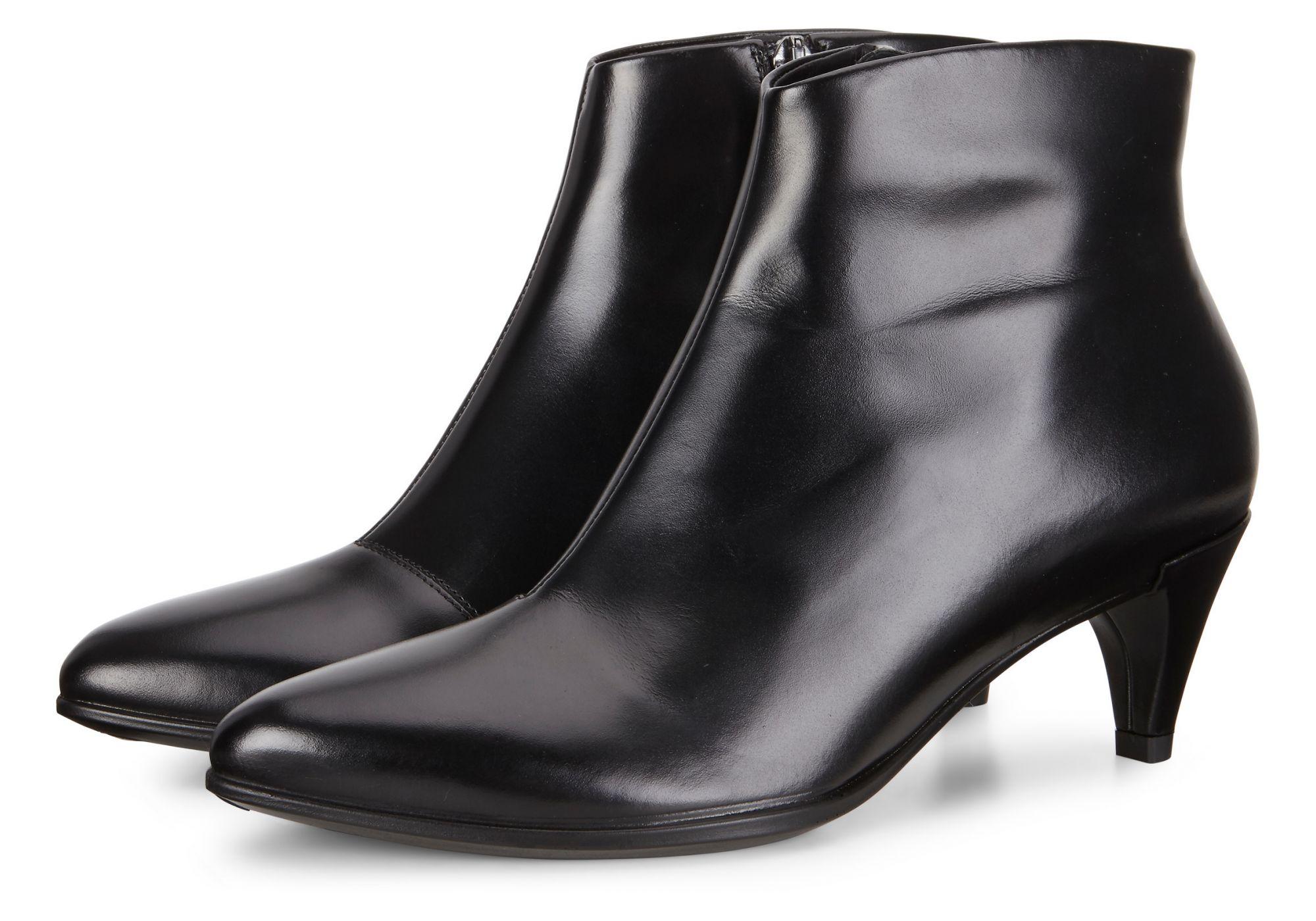 ECCO爱步 女鞋263863中跟商务正装休闲皮鞋时尚短靴2018款 型塑45