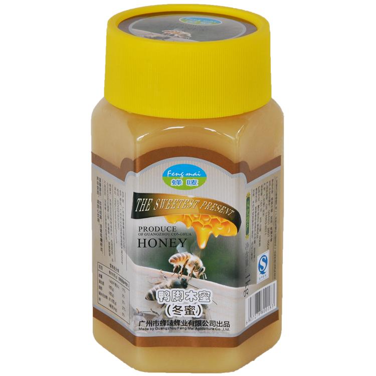 蜂唛 中华老字号 鸭脚木冬蜜1000g瓶装 天然土蜂蜜 从化特产 年货