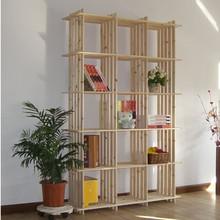 包邮宜家新款多功能15格架实木书架层架杂物架展示架玩具架摆设架