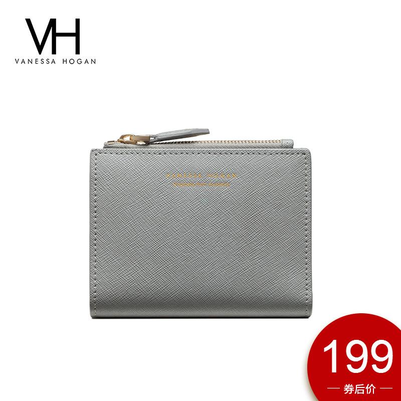 VH女包短款搭扣钱包大钞夹时尚个性零钱包带拉链方便携带横款钱包图片