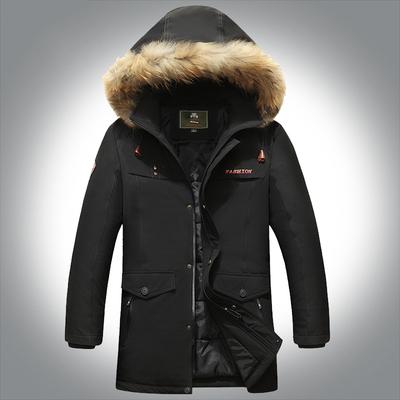 品牌男装棉衣男中长款户外加厚宽松大码棉服秋冬带帽男装毛领外套