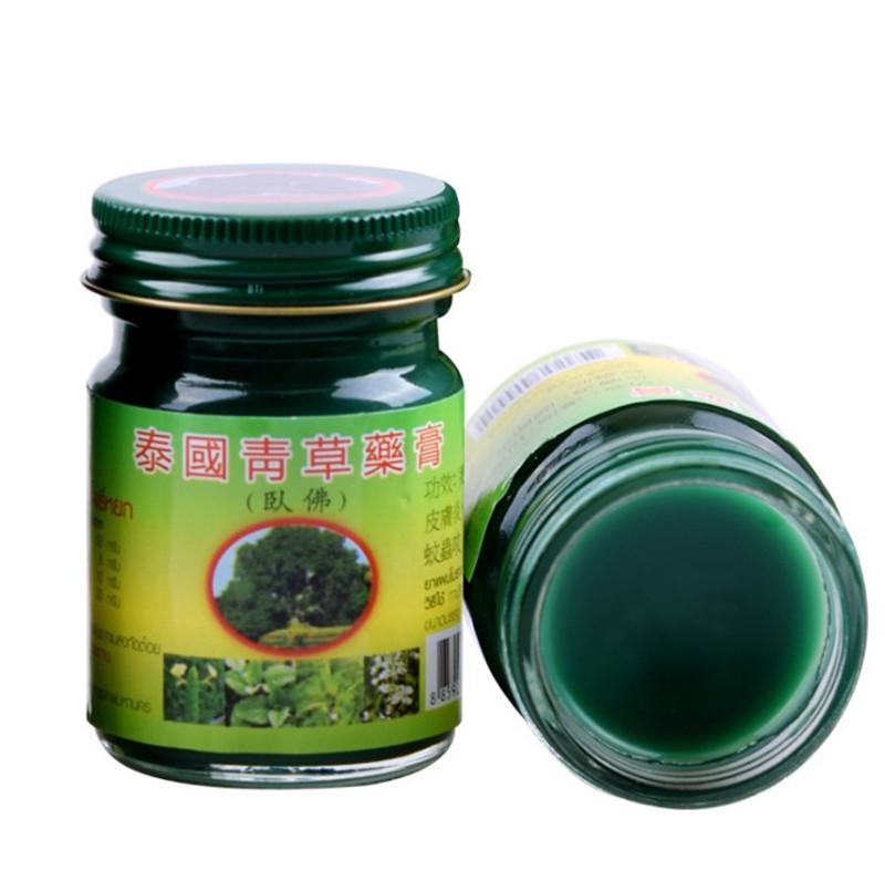 泰国原装正品卧佛青草药膏 防蚊虫止痒扭伤 盒装3瓶送小样包邮