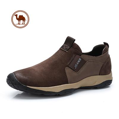 骆驼牌男鞋户外休闲鞋真皮鞋登山鞋男低帮运动休闲皮鞋男防滑潮流