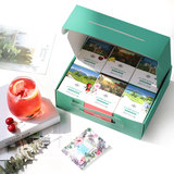 Flower tea fruit tea gift box 60 packs peach lemon black tea rose tea dried fruit group creative Tanabata couple gift