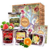 Rose tea gift box with hand gift high-grade packaging give gifts woman fruit tea flower tea combination health tea