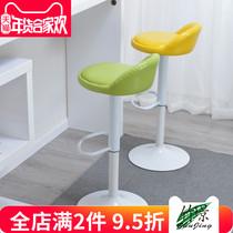 创意餐椅金色吧椅简约吧凳咖啡厅靠背高脚椅子ins北欧吧台椅铁艺