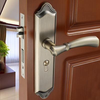 凡帝罗门锁室内静音卧室房间实木门锁具家通用型把手门锁三件套装