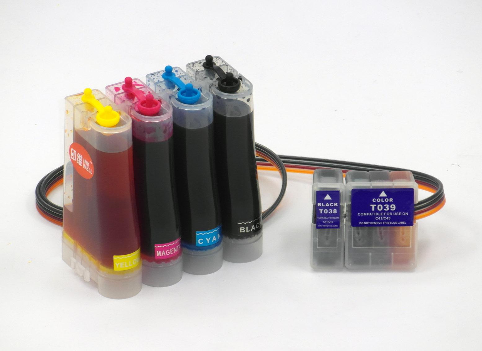 印维 兼容爱普生 EPSON C41UX C43UX连供 C41SX墨盒 C43SX墨水