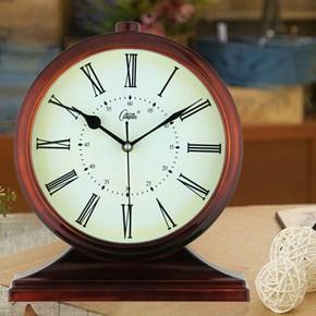 立式台式钟表摆件客厅卧室床头静音座钟欧式桌面个性家用创意时钟
