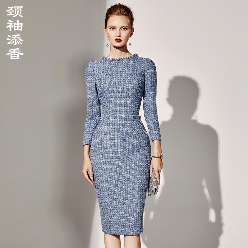 冬装职业连衣裙