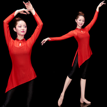 Classical Dancing Gongfu Female Adults New Chinese Elegant Modern Dance Mesh Shape and Body Rhyme Yarn Suit
