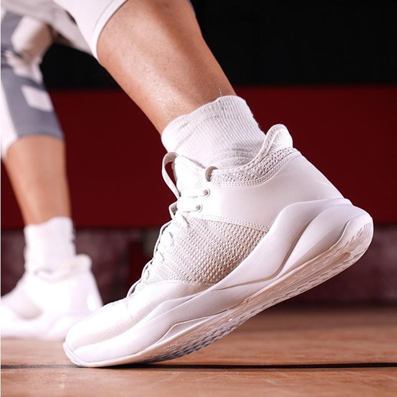 匹克篮球鞋白色高帮网面透气2019夏季男子轻便后卫战靴运动鞋男鞋