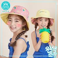 韩国FA女童帽子春秋渔夫帽宝宝帽子遮阳儿童帽子女夏天遮阳帽盆帽