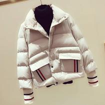 胖妹妹外套女冬韩版宽松大码蓬蓬短款面包服羽绒棉衣学生棉服棉袄