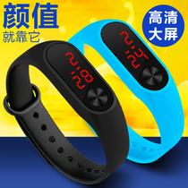 非智能触屏情侣手表手环男学生儿童手表女学生男孩韩版电子表LED
