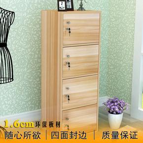 简易柜带门带锁储物柜书柜小柜子自由组合儿童置物柜收纳柜阳台柜