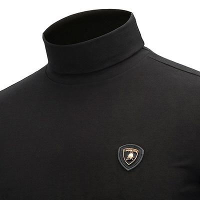 2018秋冬季新款男高领打底衫修身长袖T恤加绒加厚纯棉加肥加大码