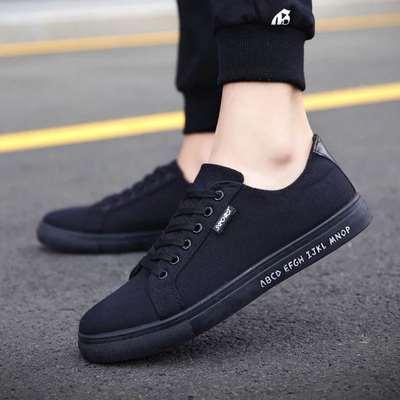 秋季帆布鞋男韩版潮流男鞋小白鞋男士休闲鞋低帮布鞋潮板鞋男夏季