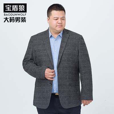 春秋加大码男士休闲便西加大号胖子肥佬羊毛西服外套胖子男士西装