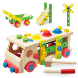 Children's screw building blocks assembly toys 1-2-3-6 years old boy girl baby screw nut pair 4