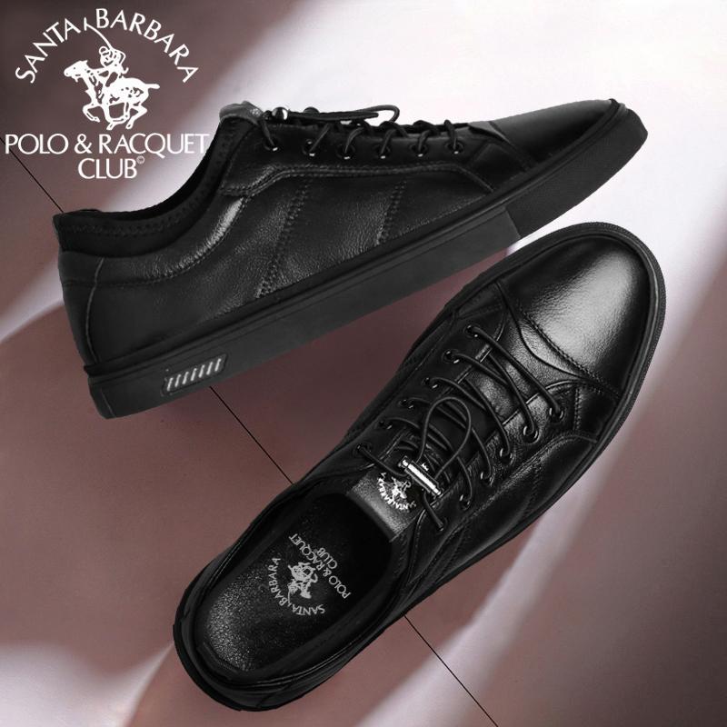 春秋季真皮黑皮鞋