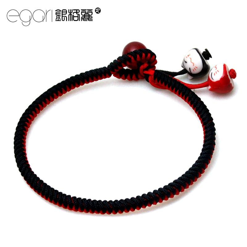 红绳手链招财猫