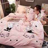 夏季四件套床上用品单人学生宿舍床单被套被子被单三件套4 网红款图片