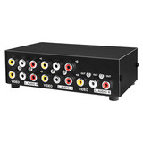 Darwin AV Switcher Four in One Out Convertidor de audio y video 3rca Tricolor TV conmutada Distribuidor de audio y video