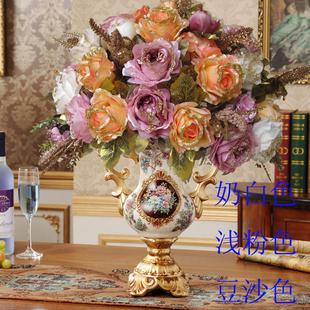欧式仿真闪光茶枚花束客厅绢花 假花玄关 花艺装饰包邮
