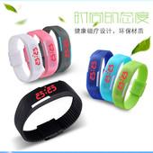 韩版 包邮 LED手表情侣灯触控果冻手环手镯运动男女学生电子表