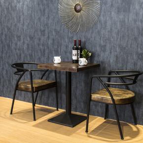 北欧美式酒吧桌椅餐厅餐椅咖啡馆创意个性复古工业风铁艺桌椅组合
