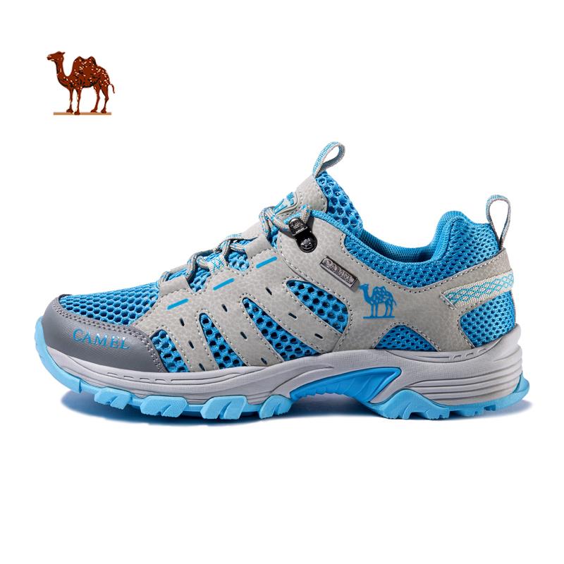 骆驼户外徒步鞋情侣网布鞋夏季耐磨透气低帮登山鞋男女休闲旅游鞋