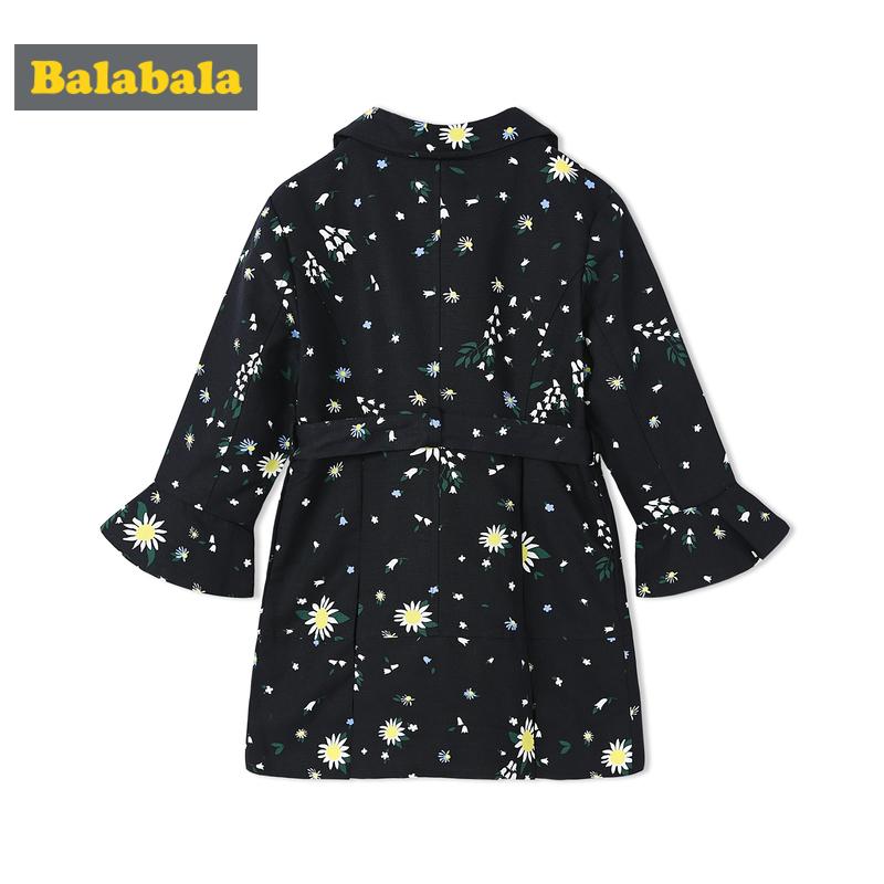 巴拉巴拉女童外套2018春装新款童装儿童风衣韩版大童外衣7中长款9