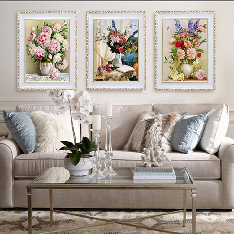 客厅装饰画花卉壁画走廊油画卧室玄关挂画风景装饰壁画欧式装饰画3元优惠券