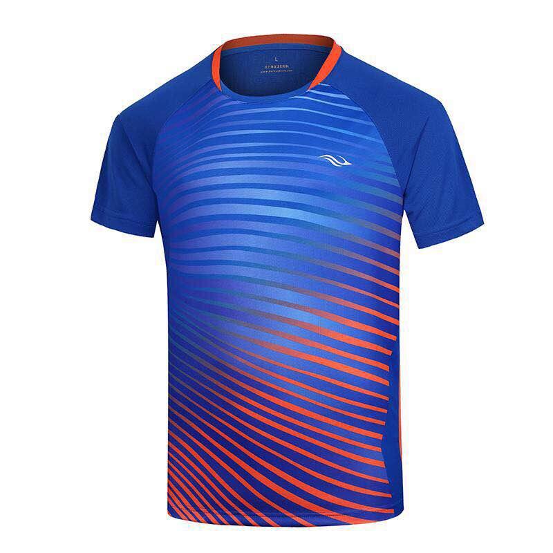 Bonny波力羽毛球服运动圆领T恤吸湿排汗男女运动短袖上衣18053