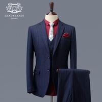 西服套装男士正装韩版修身夏季商务西装三件套英伦风新郎结婚礼服