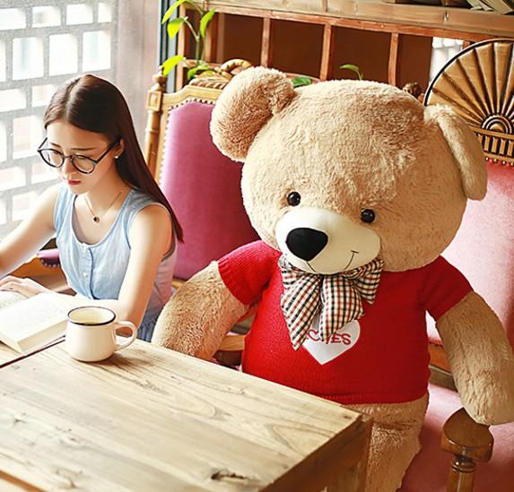 泰迪熊生日礼物送女生朋友闺蜜大号公仔毛绒玩具布偶娃娃抱狗熊猫