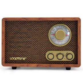 复古台式收音机FM/AM二双波段仿古木质老式半导体家用蓝牙收音机