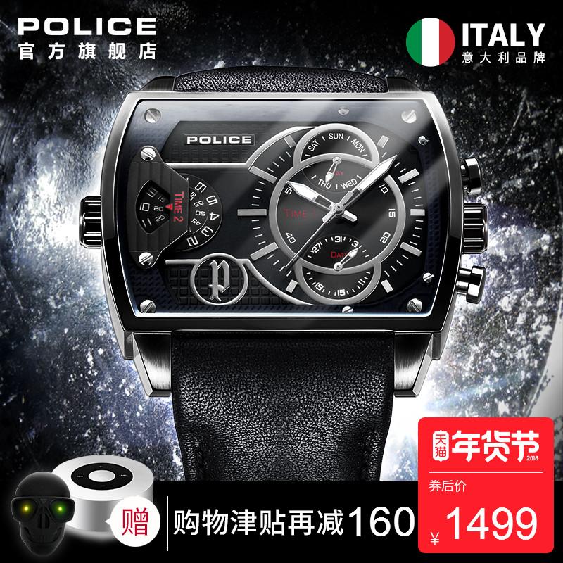 手表_police 多机芯方形手表3元优惠券