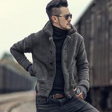 棉衣外套男款 毛绒立领短款 毛茸茸外套 男装 冬装 毛领棉服外套F7135