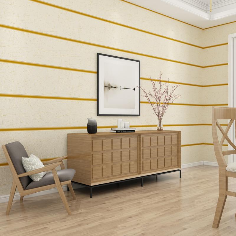 现代简约加厚鹿皮绒大理石壁纸无纺布横宽条纹墙纸客厅卧室背景墙