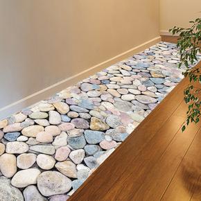 3d立体仿真防水耐磨地板贴纸卫生间墙贴画墙纸地砖客厅地面装饰品