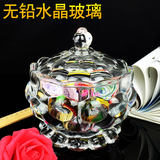 Creative coffee table candy 盅 fashion living room European crystal glass snacks cans dried fruit plate saucer sugar bowl