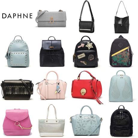 Daphne/达芙妮正品休闲双肩包简约包大包单肩斜跨手提包通勤女包商品大图