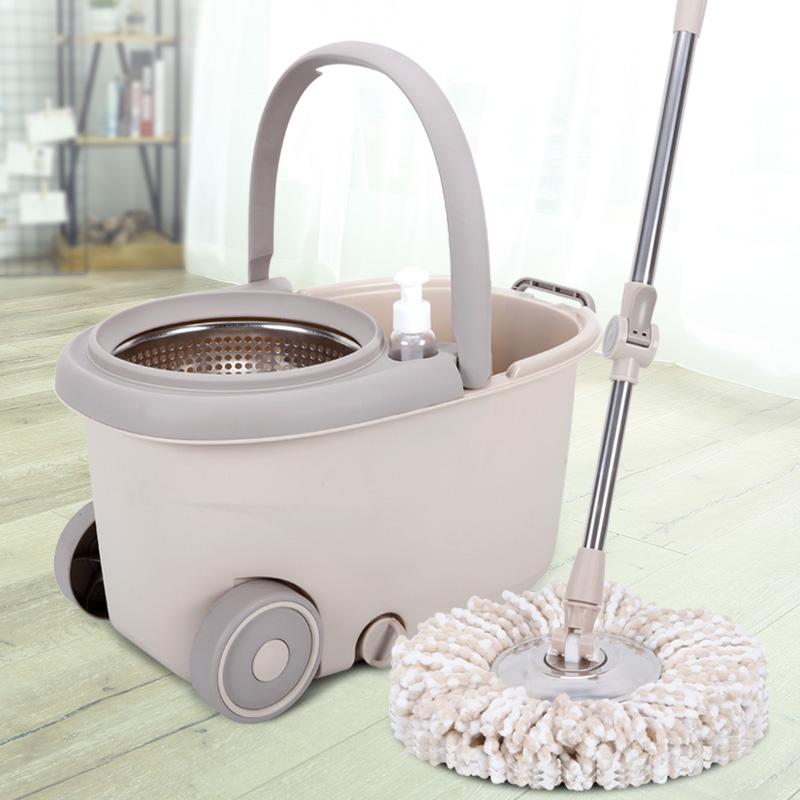 拖把杆旋转通用免手洗懒人家用拖地神器旋转式自动甩水拖布墩布桶