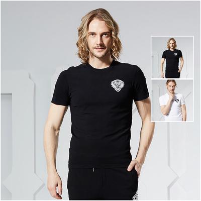 JEDOSS/爵迪斯2018夏季新款男士圆领薄款针织弹性透气修身T短袖恤